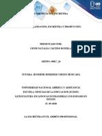 COMUNICACION ESCRITURA , mapa conceptual