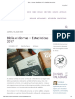 Biblia e Idiomas – Estadísticas 2017 _ COMIBAM Internacional