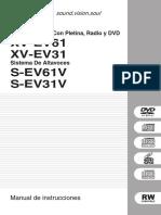Equipo Estéreo Con Pletina, Radio y DVD XV-EV61 XV-EV31. Sistema De Altavoces S-EV61V S-EV31V. Manual de instrucciones (1).pdf
