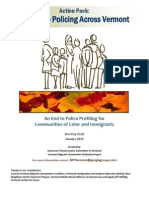 Action Pack - Bias Free Policing, VT
