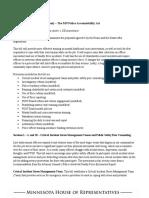 Research Memo HF 1 - Law Enforcement Accountability