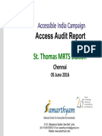 15_ Chennai Metro Station- St_ Thomas Mount-Chennai Access Audit Report AIC