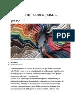 Manual de tintura del cuero de marroquineria