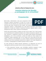 Presentación y Plan de Trabajo - Conocimientos básicos de Moodle