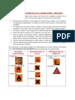RESUMEN - NORMAS DE SEGURIDAD EN LABORATORIO - KAREN SALCEDO