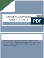 Konsep dan Prinsip Patient Safety Ners
