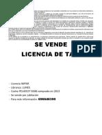 Se vende licencia de taxi3