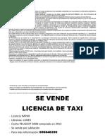 Se vende licencia de taxi4
