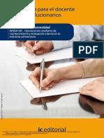 Guía docente y solucionarios mantenimiento y transporte industria alimentaria