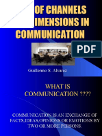 role of channels and dimensions in communication-Week 1b