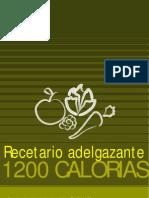 Recetario Adelgazante de 1200 Calorias