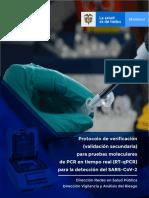 Protocolo verificación RT PCR SARS CoV-2