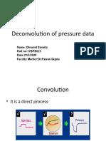 Deconvolution of pressure data