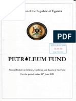Annual report on Uganda Petroleum Fund for the period ended 30 June, 2019