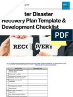 Disaster Recovery Plan Template and Development Checklist