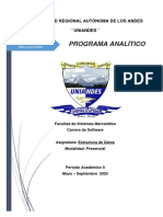 1Programa analitico Estructura de Datos