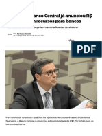 Com crise, Banco Central já anunciou R$ 1,2 trilhão em recursos para bancos