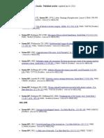 Deba P Sarma, MD Publications, Updated Jan 2011