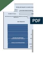 matriz formulacion y evaluacion de proyectos