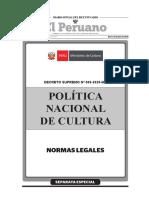 Decreto Supremo que aprueba la Política Nacional de Cultura al 2030