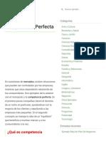 6 Ejemplos de Competencia Perfecta