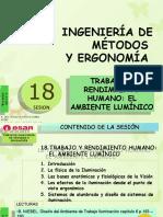 Sesión 18  TRABAJO Y RENDIMIENTO HUMANO - EL AMBIENTE LUMINICO