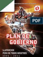 Plan de gobierno de Ollanta Humala