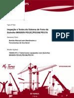 Inspeção e Testes do Sistema de Freio do Guincho BRADEN PD12C-PD15B-PD17A