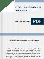 mpsouza - LEI Nº 898795 – CONCESSÕES DE SERVIÇOS PÚBLICOS