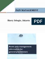 Acute pain Management,TIR Jakarta 20 April 2013