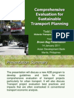 Comprehensive Evaluation for Sustainable Transport Planning