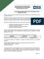SGCA01T_Politicas Devolucion Con o Sin Garantía_Productos CELSA_