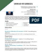 CV of Syahreza 2020