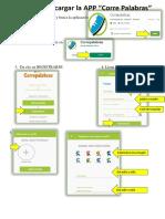 pasos para instalar la app CORRE PALABRAS