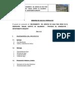 MEMORIA DE CALCULO HIDRAULICO TABLANI