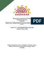 UIDAI Staffing
