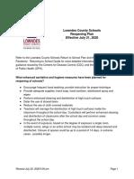 FAQs - LCSS Return to School Plan
