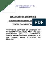Jaipur Airport Tender
