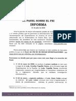 El Panel Sobre El FEI Informa
