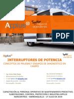 Capacitación Interruptores 27 Julio 2019