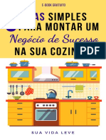 Ebook 5 Dicas de Como Montar um Negócio de Sucesso na Cozinha - Sua Vida Leve