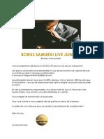 PROGRAMME BONUS SAMURAI LIVE JUIN 2020 (1)