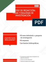 PROCESO DE REDACCION TEMA Y ESQUEMA