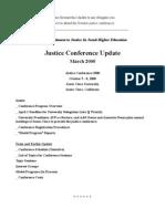 Justice Conference 2000 - Santa Clara University, CA, USA