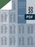 Guide de lecture Biblique 2020