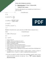 Ficha de Exercícios - Fisica - 12ª Classe