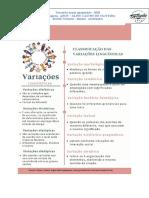 ESTUDO DIRIGIDO - VARIAÇÕES - FUNÇÕES E COORDENADAS