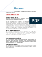 SENADORES 2018 - FAMILIAS Y CORRUPCIÓN