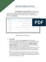 ESTÁNDARES DE FIBRAS OPTICAS