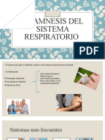 Ananmesis del sistema respiratorio
